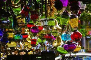 colourful lamps