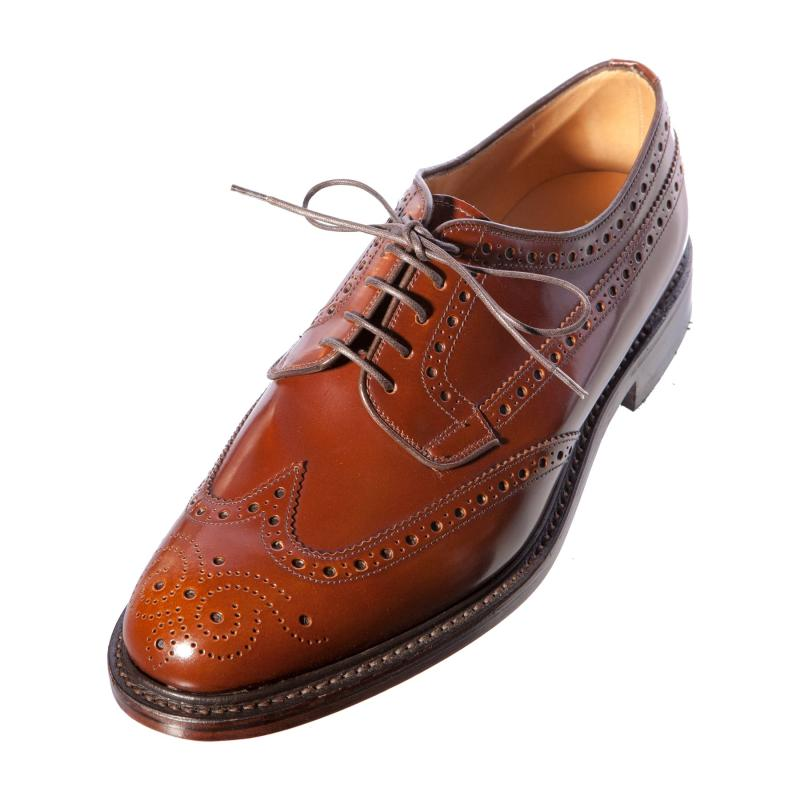 Mens Leather Sole Brogue Shoes