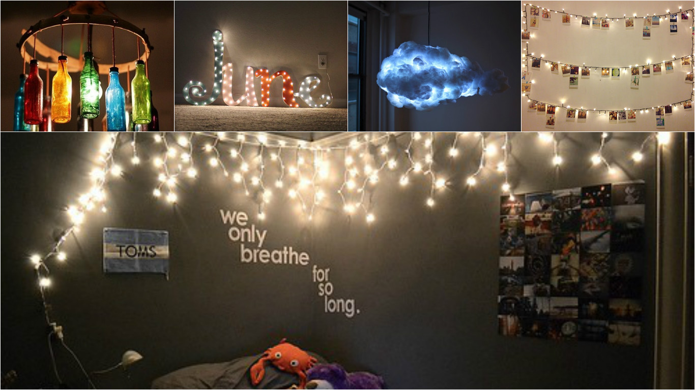6 amazing ways to light up your room using fairy lights - Fairy lights in room ...