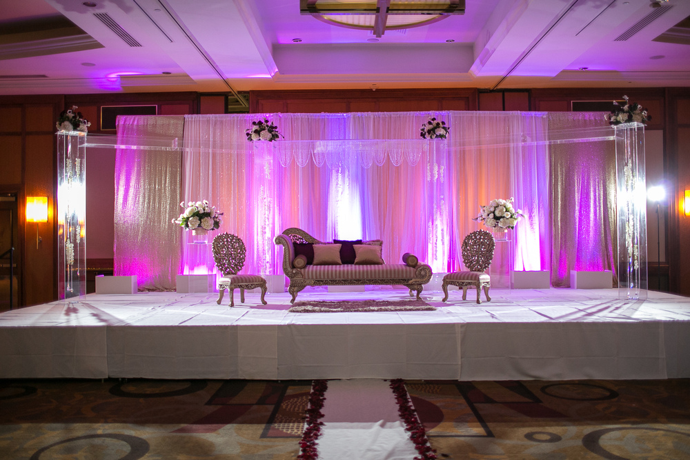 Drapes Of Pink Satin With White Will Create A Soothing Backdrop And