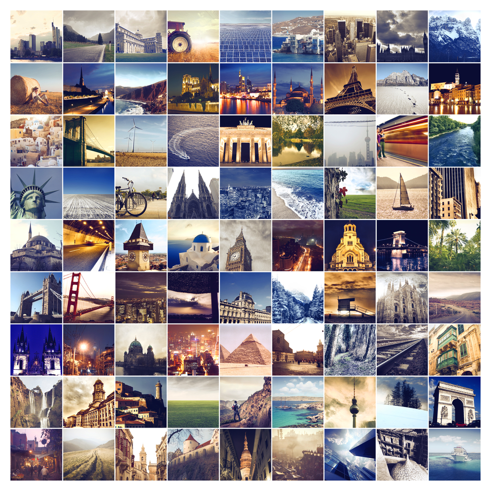 Different places in the world collage for Vacation spots around the world