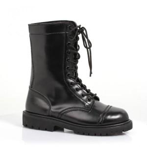 black-combat-boot