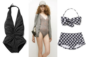 One piece and two piece swimsuits