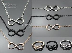 Range of infinity jewellery