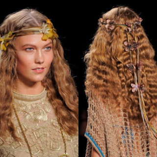 model sporting crimped hair