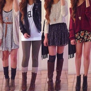 blouse-sweater-skirt--cardigan-dress-jacket-socks-shirt-white-cream-red-wine-black-brown-leather-boots-cute-winter-fall-hipster-green