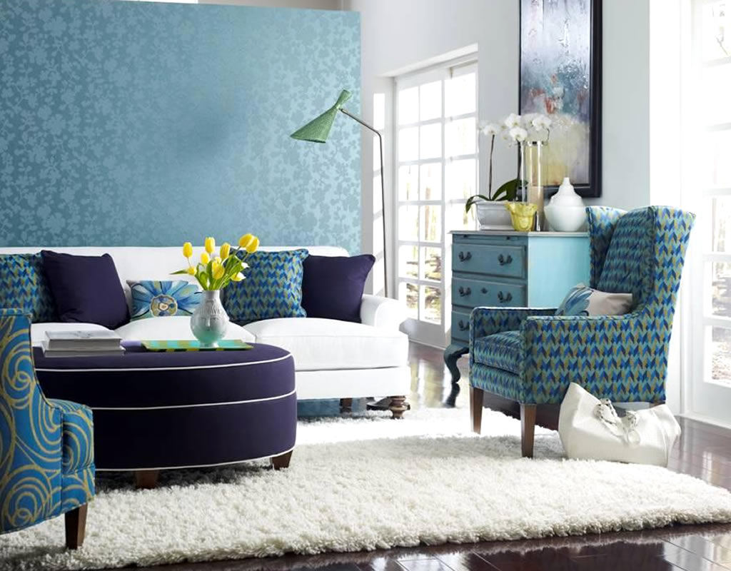Aquamarine color trend to freshen up your life wonder for Residential interior designs