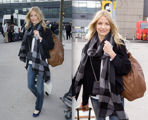 A Ious Carry On Bag Cameron Diaz Airport Style
