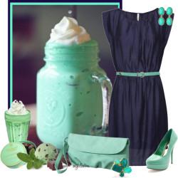 mint blue outfit