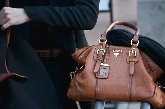 Brown Prada Handbag