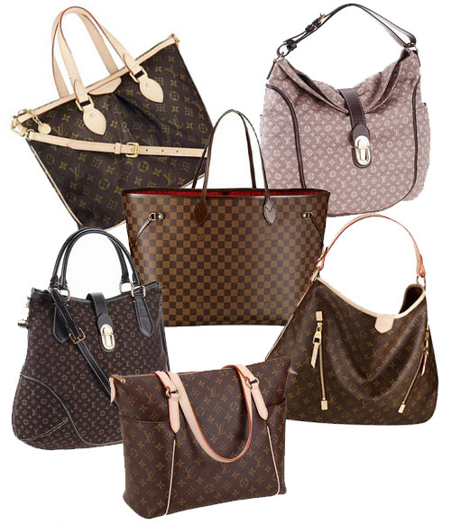 Burgandy Louis Vuitton Handbag Totes