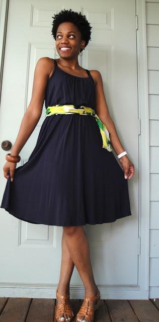 Scarf Dress with Belt