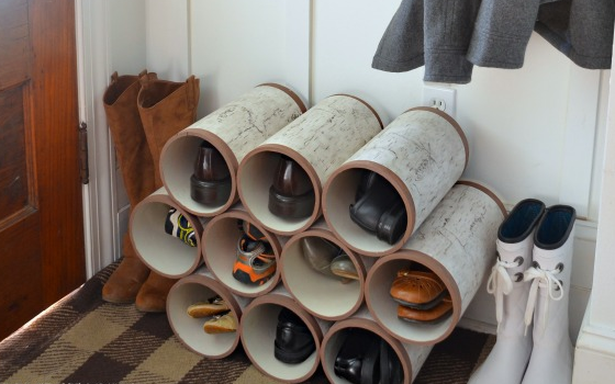 10 smart and stylish ways to store your shoes wonder wardrobes. Black Bedroom Furniture Sets. Home Design Ideas