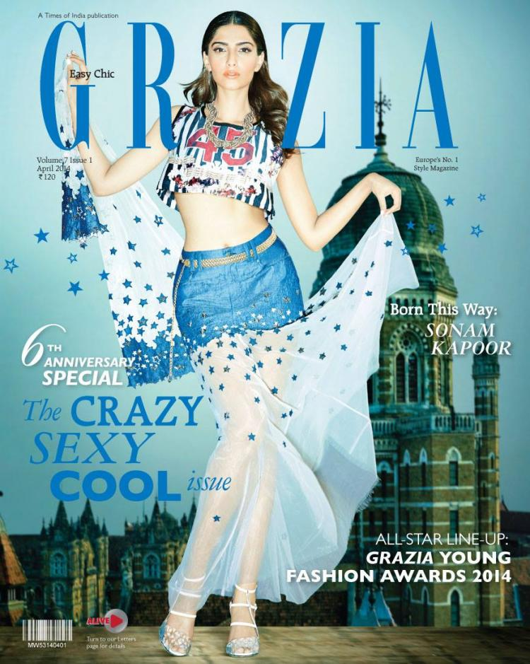 sonam on Grazia Cover