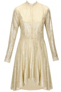 gold foil print dress-pernia qureshi