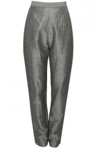 grey pinstriped high waisted pants-urvashi kaur