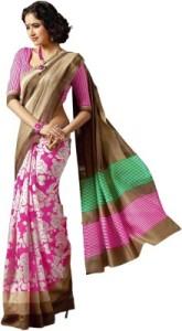 pink floral sarees