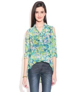 Remanika-Green-Polyester-Shirt