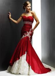 Maroon Wedding Dress 1