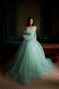 Mint Green Wedding Dress 2 1