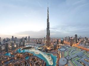 Cityscape of Downtown Dubai