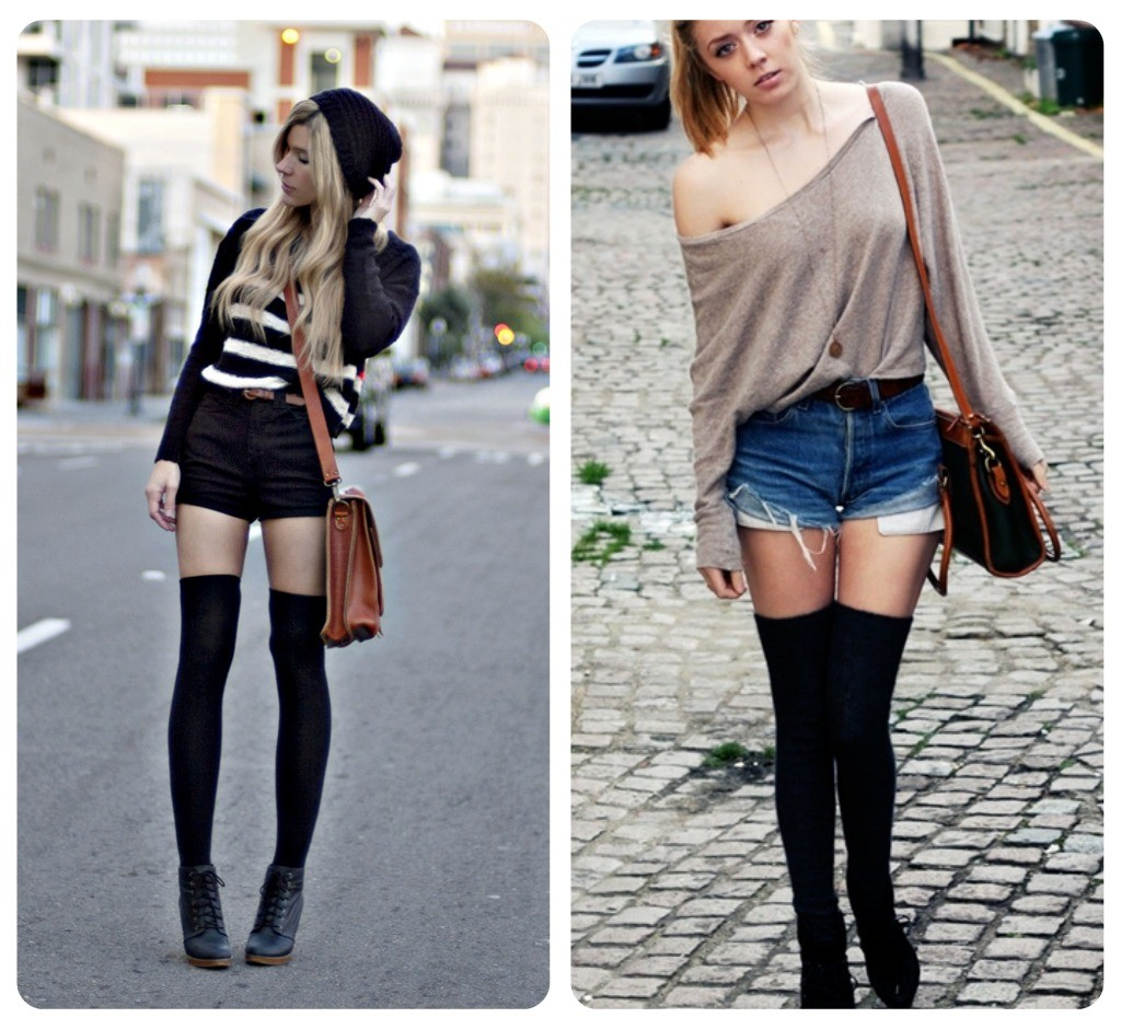 7 Ways To Wear Your Summer Outfits In Winter | Wonder ... Knee High Socks Summer Outfits