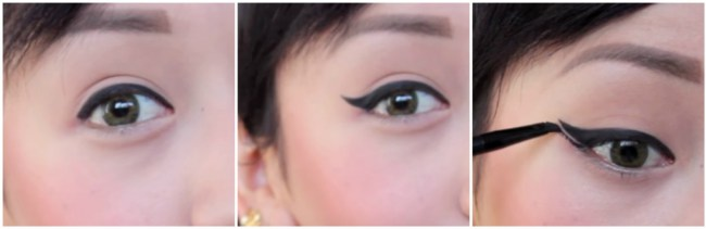Double Wing Eyeliner Style