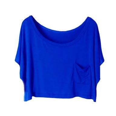 royal blue crop top   imgarcade     online image arcade
