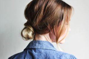 messy bun easy hairstyles