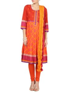 orange kurta online festive season