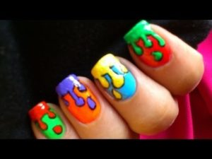 3D color pops as nail art design