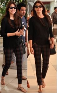 anushka travel look