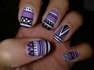 aztec prints as nail art design