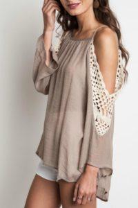 cold-shoulder-top-with-denim-skirt