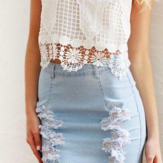 denim lust ten cute ways to style your denim skirt
