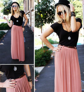 maxi skirts and palazzos for college fashion