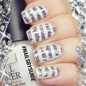 newspaper on the nails as nail art designs