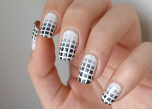 textured checks on nail art designs