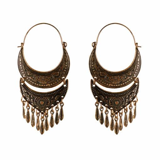Bohemian Wanderer Copper Earrings 01