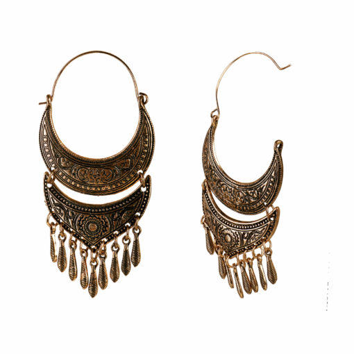 Bohemian Wanderer Copper Earrings 02