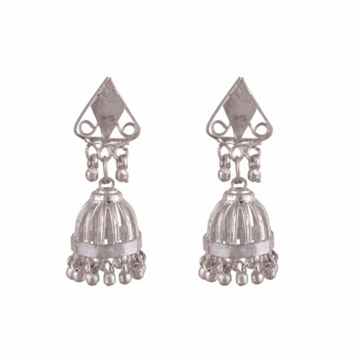 Cage style artisanal jhumkas Earrings 01