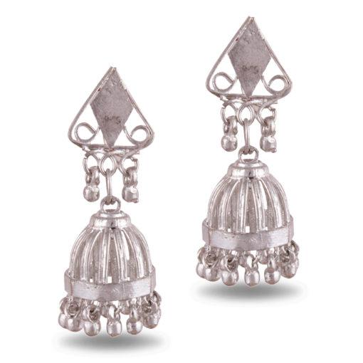 Cage style artisanal jhumkas Earrings