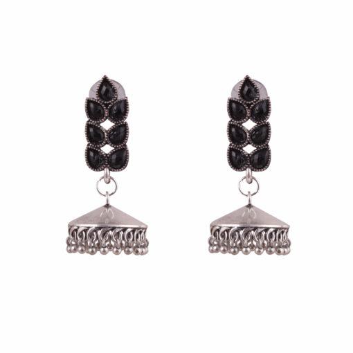 Classic jhumka with stones Earrings 01
