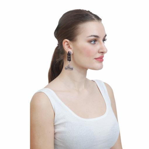 Classic jhumka with stones Earrings 02