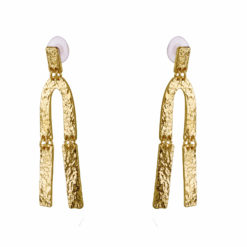 Crumpled Gold Earrings 01