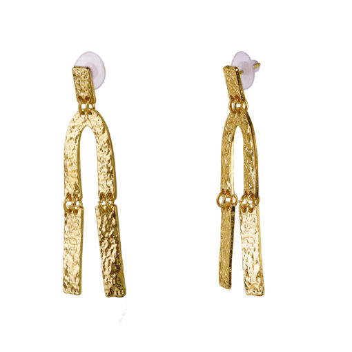 Crumpled Gold Earrings 02