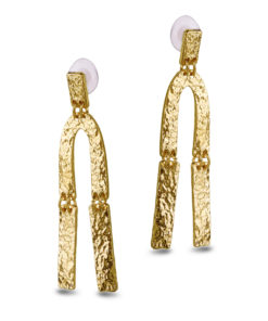 Crumpled Gold Earrings