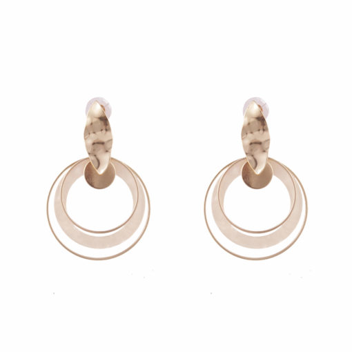 Crumpled leaf _ hoops Earrings 01