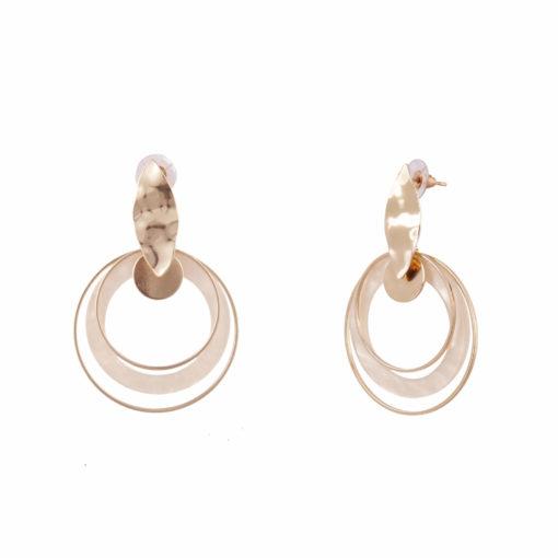 Crumpled leaf _ hoops Earrings 02