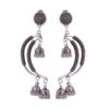 Crescent Moon German Silver Earrings
